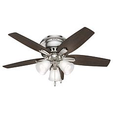 """Hunter 42"""" Newsome Low Profile Ceiling Fan with  Lights - Nickel"""