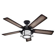 "Hunter 54"" Key Biscayne  Outdoor Ceiling Fan with Light and Pull Ch..."