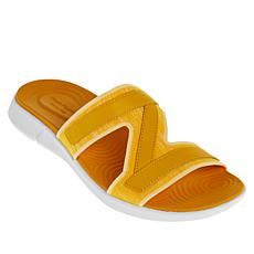Hush Puppies Willa Knit and Leather Slide Sandal