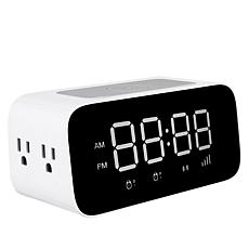 iDeaPLAY Wireless Charging Alarm Clock with Additional Charging Ports
