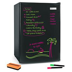 Igloo 2.6-Cubic Foot Dry Erase Board Single Door Refrigerator, Black
