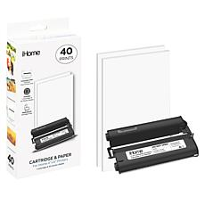 "iHome 4"" x 6"" Paper + Ink Replacement Cartridge with 40 prints"