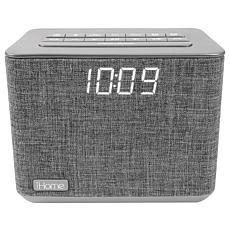 iHome Bluetooth Dual Alarm FM Clock Radio with USB Charging
