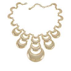 IMAN Boho Chic Goldtone Hammered Necklace