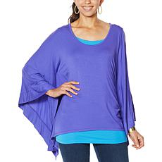 IMAN Boho Chic Poncho Tunic with Tank