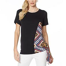 IMAN Global Chic Asymmetric Scarf Top