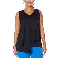 IMAN Global Chic Asymmetric Tiered Tank