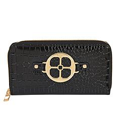 IMAN Global Chic Croco-Embossed Zip-Around Wallet