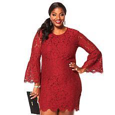 IMAN Global Chic Dressed & Ready Statement Lace Dress
