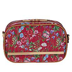 IMAN Global Chic Floral Print Crossbody Bag