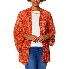 IMAN Global Chic Herringbone Mesh Knit Topper