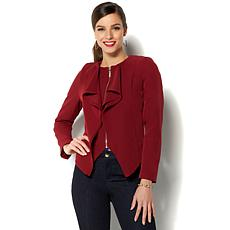 IMAN Global Chic Luxurious Cascading Blazer