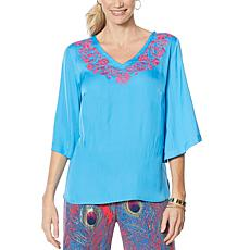 IMAN Global Chic Luxury Resort Embroidered Caftan