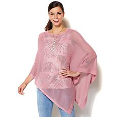 IMAN Global Chic Luxury Resort Lightweight Poncho with Cami