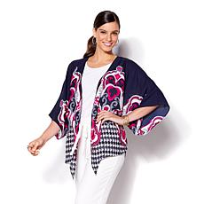 IMAN Global Chic Luxury Resort Tie-Front Kimono
