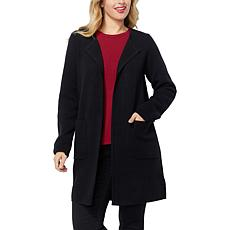 IMAN Global Chic Open-Front Sweater Coat - Solid