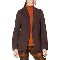 IMAN Global Chic Ponte Knit Blazer