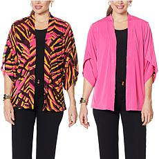 IMAN Global Chic Reversible Tulip-Sleeve Kimono Topper