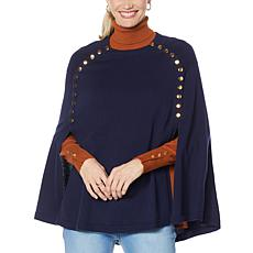 IMAN Global Chic Snap Detail Poncho