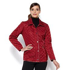 IMAN Platinum Couture Quilted Convertible Jacket & Vest