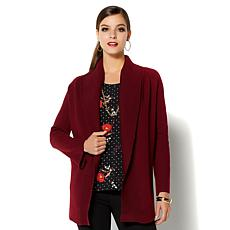 IMAN Platinum Soft Knit Signature Topper Jacket