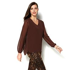 IMAN Runway Chic Luxurious Pleated Top