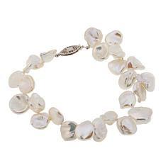 "Imperial Pearls 10-12mm Cultured Keshi Pearl 8"" Bracelet"