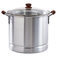 IMUSA MEXICANA 332 32-Qt. Steamer with Glass Lid and Wood-Look Handles