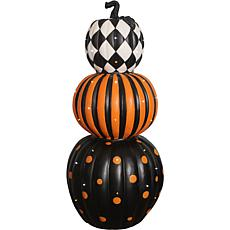 Indoor/Outdoor 36-In. Lighted Stacked Pumpkin Trio