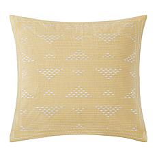 "INK+IVY Cairo Embroidered 18""x18"" Square Pillow -Yellow"