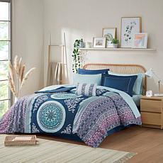 Intelligent Design Loretta Navy Queen Comforter and Sheet Set