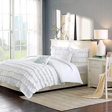 Intelligent Design  Waterfall Comforter Set White Full/Queen