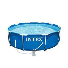 "Intex 10ft x 30"" Metal Frame Pool Set"