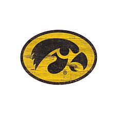 Iowa  Distressed Logo Cutout Sign