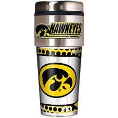 Iowa Hawkeyes Travel Tumbler w/ Metallic Graphics and T