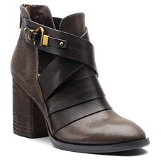 "Isola ""Ladora"" Stacked Heel Leather Bootie"