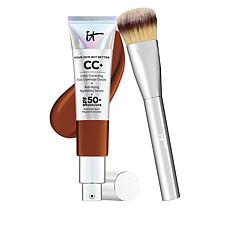 IT Cosmetics Deep Full Coverage SPF 50 CC Cream with Plush Brush