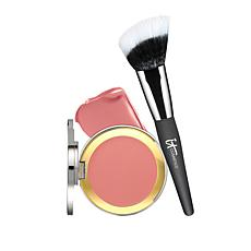 IT Cosmetics Naturally Pretty CC+ Anti-Aging Blush & Brush