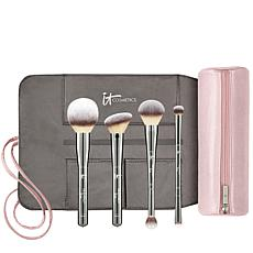 IT Cosmetics Special Edition Luxe 4-peice Brush Set with Makeup Bag