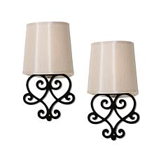 Itu0027s Exciting Lighting 2pk Battery Powered Wall Sconce Set