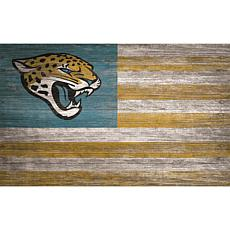 Jacksonville Jaguars Distressed Flag 11x19