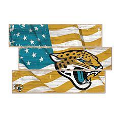 Jacksonville Jaguars Flag 3 Plank