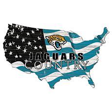 Jacksonville Jaguars USA Shape Flag Cutout