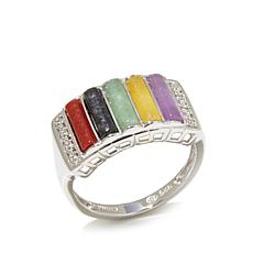 "Jade of Yesteryear ""Colors of Jade"" Band Ring"