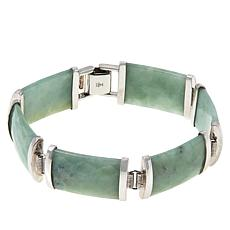 Jade of Yesteryear Sterling Silver Faceted Jade Line Bracelet