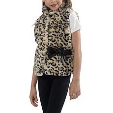 Jake and Anna Girls Faux Fur Leopard Vest