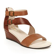 Jambu Capri Asymmetrical Strappy Wedge Sandal