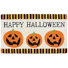 J&M Three Pumpkins Halloween Doormat