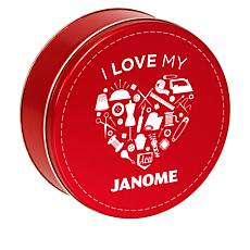 Janome Decorative Tin with 30 Spools of Thread
