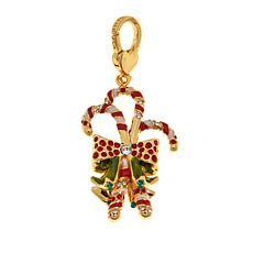JAY Jay Strongwater Enamel Candy Cane Charm